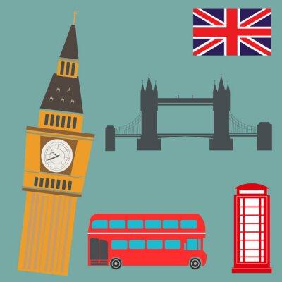 Sticker Londres, vecteur, graphiques