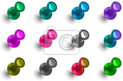 Lot de punaise - couleurs froides stickers pc portable ...