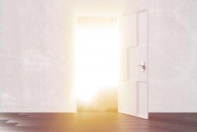 Sticker Lumière, clair, ouvert, porte, vide, salle