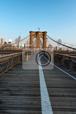 Lumière du coucher du soleil sur le pont de Brooklyn