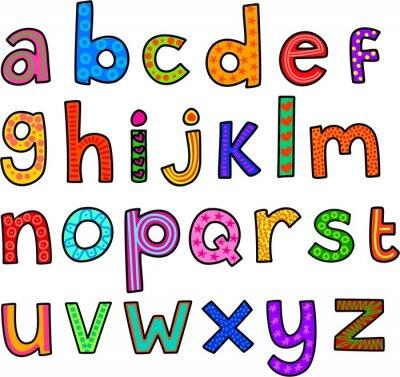 Sticker Lunatique minuscules Alphabet