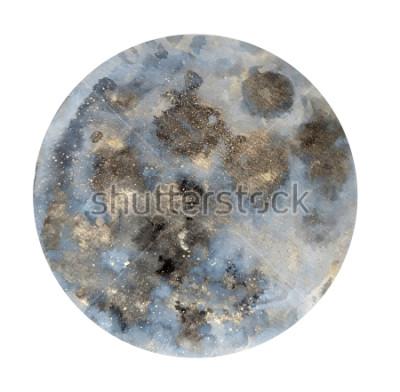 Sticker Lune. Illustration d'aquarelles