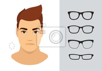 87e895d4ed1a35 Sticker Lunettes de soleil homme pour le type de visage ovale homme.  Différentes formes de