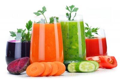 Sticker Lunettes, frais, légume, jus, isolé, blanc