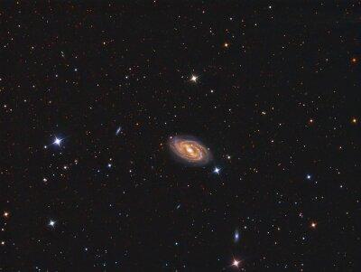 Sticker M109 Galaxy imaged avec un télescope et une caméra scientifique CCD