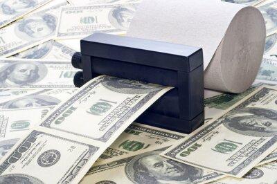 machine à imprimer de l'argent de papier toilette