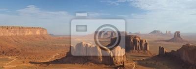 Magnifique Monument Valley vue du ciel aérien de ballon