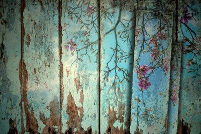 Sticker Magnolia, ressort, vieux, fond