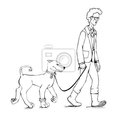 Maigrichon et le chien