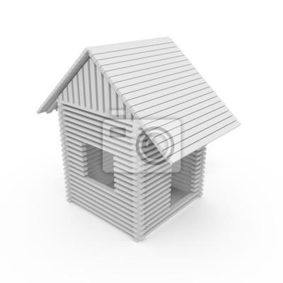Maison isolée, 3D