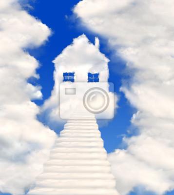 maisons dans les nuages
