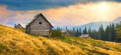 Sticker Maisons en bois en Ukraine