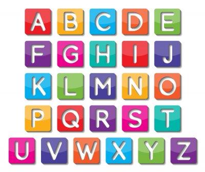 Sticker majuscules de papier