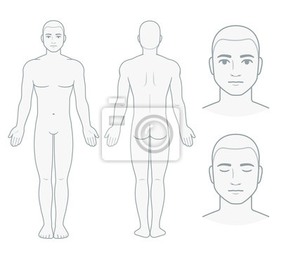 Sticker Male body and face chart