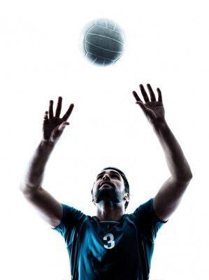 Sticker man volleyball  silhouette