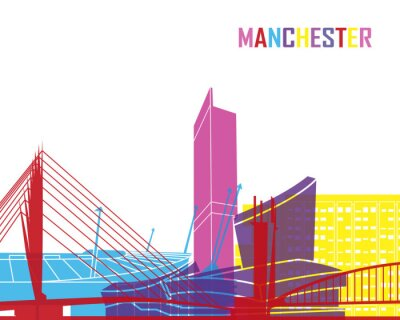 Sticker Manchester horizon pop