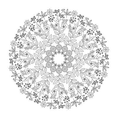 Sticker Mandala d'herbes