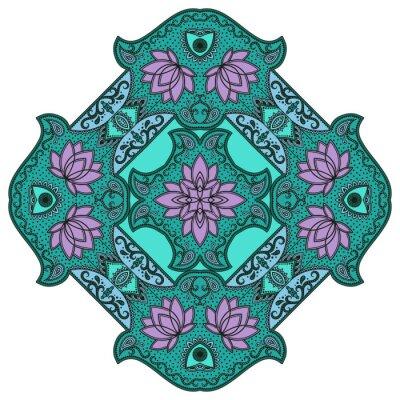 Sticker Mandala de couleur de vecteur.