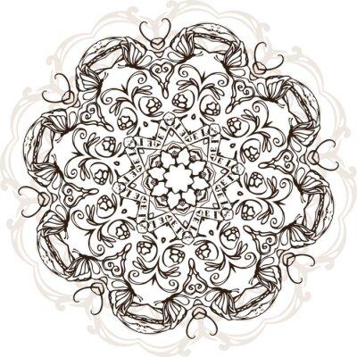 Sticker Mandala, ethnique, Indien, Illustration, conception