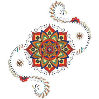 Sticker Mandala lotus hindou