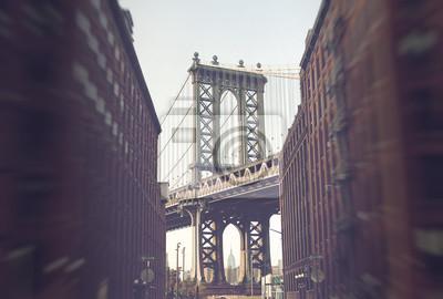 Manhattan Bridge de Brooklyn, New York, États-Unis