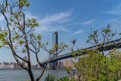 Manhattan bridge on sunny day