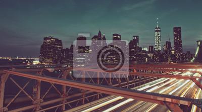 Manhattan, Horizon, bruxelles, pont, nuit