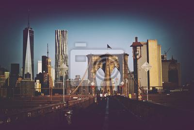 Manhattan, Horizon, historique, Brooklyn, pont