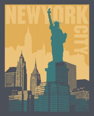 Sticker Manhattan, New York City, illustration de la silhouette