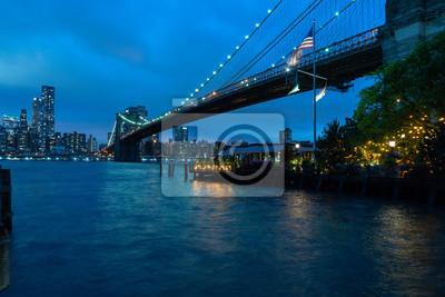manhattan nuit vue de brooklyn