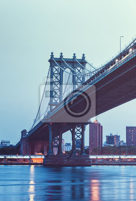 Manhattan, pont, Est, rivière