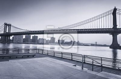 Manhattan, pont, sur, Est, rivière, nouveau, York, ville