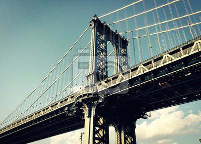 Manhattan, pont, vendange, Style