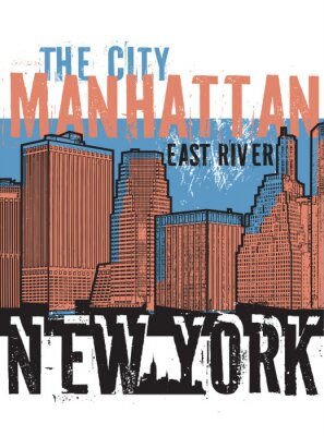 Sticker Manhattan, ville de New York