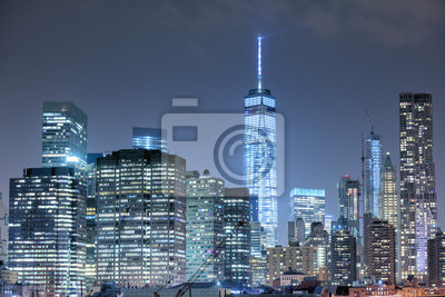 manhattan vue de nuit de Brooklyn