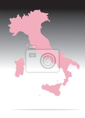 mappa italia mondo rosa