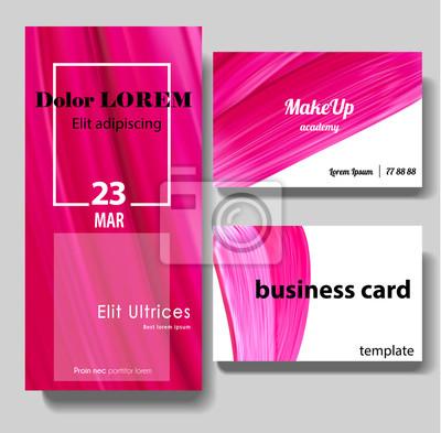 Sticker Maquillage Beaute Ou Cosmetiques Vecteur Carte De Visite