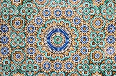 Sticker Marocain, vendange, carreau