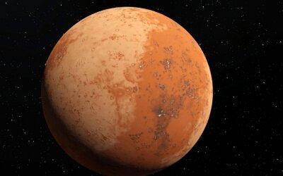 Sticker Mars illustration scientifique - paysage planétaire