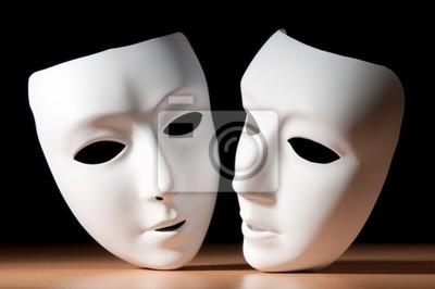 Sticker Masques avec le concept de théâtre