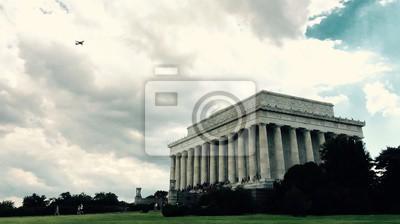 Mémorial de Lincoln dans le style de couleur vintage