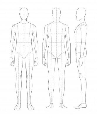 Sticker Mens Figure 8-Heads