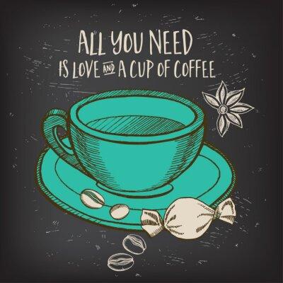 Sticker Menu de café de restaurant de café, conception de modèle.