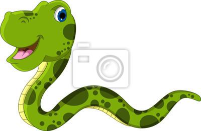 Dessin Animé Serpent mignon dessin animé serpent vert stickers pc portable • autocollants