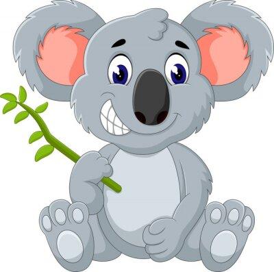 Sticker Mignon, koala, dessin animé, Illustration