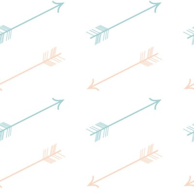 Sticker Mignon pastel couleur rose bleu flèches seamless vecteur modèle fond illustration
