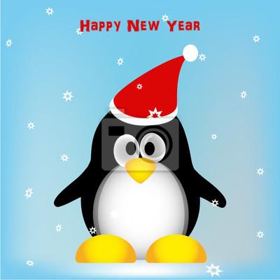 Mignon, pingouin, hiver, fond