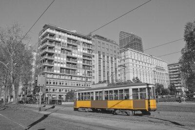 Sticker Milano e tram à lombardia italie milan et train à milan italie