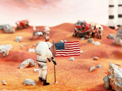 Sticker Mission en équipage de Mars