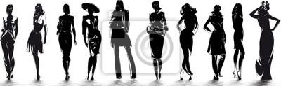 Sticker Mode - silhouettes de femme
